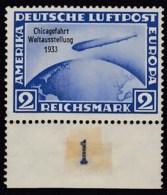 DR 497, Postfrisch *, Zeppelin-Marke  Chicago-Fahrt 1933 - Duitsland
