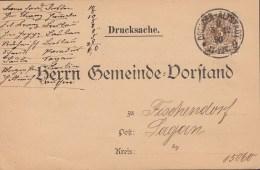 DR 45 A Ef Auf Drucksache Mit Stempel: Dresden-Altstadt 5.12.1890 - Deutschland