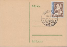 DR 824 Auf Karte Mit Sonderstempel: Berlin 100 Jahre Postamt 1.3.1943 - Covers & Documents