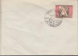 DR 825 Auf Briefumschlag Mit Sonderstempel: Berlin 100 Jahre Postamt 1.3.1943 - Briefe U. Dokumente