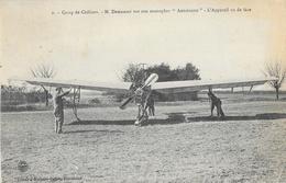 Camp De Châlons - M. Demanest Sur Son Monoplan Antoinette - Appareil Vu De Face - Carte Guérin Non Circulée - ....-1914: Précurseurs