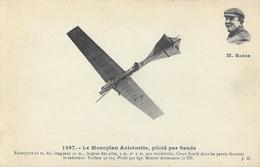 Le Monoplan Antoinette Piloté Par Sands (en Médaillon) - Carte J. Hauser Non Circulée - ....-1914: Précurseurs