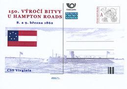 Tschech. Rep. / Ganzsachen (Pre2012/14) 150. Jahrestag Der Schlacht Von Hampton Roads (1862) - CSS Virginia - Briefe
