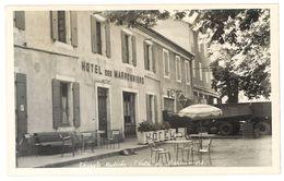 Cpsm Thueyts - L'Hôtel Des Marronniers ( Garage Auto Au Second Plan, Plaque émaillée Renault ) - France