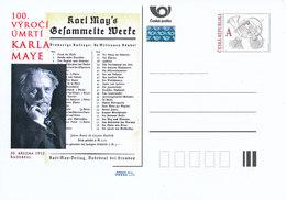 Tschech. Rep. / Ganzsachen (Pre2012/17) Karl May (1842-1912) Deutscher Schriftsteller - American Indians