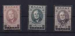 GREECE STAMPS FRANKLIN D.ROOSEVELT -21/12/45-USED - Griechenland