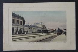 CPA - Guingamp - Côtes-du-Nord - La Gare - Arrivée Du Rapide - Chemin De Fer Train - Guingamp
