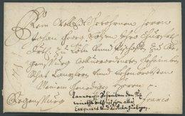 BAYERN 1691, Bischofsbrief An Johann Georg Zu Köln Und Regensburg, Gesiegelt Mit Komplettem Inhalt, Kabinett - [1] ...-1849 Prephilately
