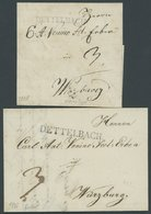 BAYERN DETTELBACH, L1 In Kleiner Und Großer Type, 2 Prachtbriefe (1828 Und 1831) - Germany