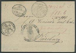 BAYERN Fuhrmannsbrief Von 1841 Mit Kleinem Ovalstempel Güter Bestätterei WÜRZBURG, Sowie 3 Zollstempeln, Pracht - Germany