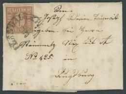 BAYERN 4IA BRIEF, 1849, 6 Kr. Dunkelbraunorange, Type I, Ausgefüllte Ecken Mit Segmentstempel LANDAU In Der Pfalz, Auf K - Bavaria