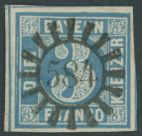 BAYERN 2II O, 1859, 2 Kr. Blau, Platte 5, Idealer MR-Stempel 584 (Wilhermsdorf), überrandig, Luxusstück - Bavaria