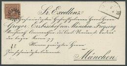 BAYERN 4II BRIEF, 1862, 6 Kr. Dunkelbraunorange, Type II, Platte 3, Auf Vorgedrucktem Bischofsbrief, MR-Stempel 526 (Tra - Bavaria