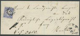 BAYERN 21b BRIEF, 1868, 7 Kr. Dunkelultramarin Auf Doppelt Verwendeter Briefhülle Mit MR-Stempel 54 (Bogen), Pracht, Gep - Bavaria