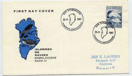 GREENLAND 1967 Greenlandic Sagas IV  On FDC.  Michel 68 - FDC