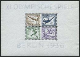 Dt. Reich Bl. 5 **, 1936, Block Olympische Spiele, Pracht, Mi. 130.- - Germany
