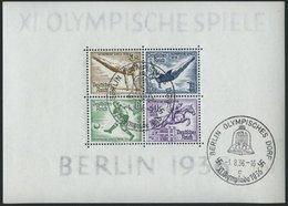 Dt. Reich Bl. 5 O, 1936, Block Olympische Spiele, Ersttags-Sonderstempel, Pracht, Mi. (90.-) - Germany