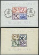 Dt. Reich Bl. 5/6 O, 1936, Blockpaar Olympische Spiele, Ersttags-Sonderstempel, Pracht, Mi. (180.-) - Germany