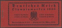 ZUSAMMENDRUCKE MH 42.1 **, 1936, Markenheftchen Olympische Spiele, Unbedruckt, Pracht, Mi. 200.- - Se-Tenant