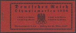 ZUSAMMENDRUCKE MH 42.1.2 **, 1936, Markenheftchen Olympische Spiele, Passerkreuz/-strich Oben + Unbedruckt, Pracht, Mi.  - Se-Tenant