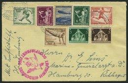 ZEPPELINPOST 427Ba BRIEF, 1936, Olympiafahrt, Auflieferung Rhein-Main-Flughafen (Buchstabe H), Frankiert Mit Olympia-Mar - Airmail