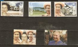 Vanuatu  1992 SG 587-91  Anniversary Accession Q E 11 Unmounted Mint - Vanuatu (1980-...)