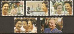 Samoa  1992  SG 876-80  Anniversary Accession Q E 11  Unmounted Mint - Samoa