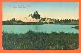 "CPA Christiansborg Gold Coast "" Lagoon With Castle "" CPA 57 - Ghana - Gold Coast"