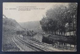 CPA - Gouarec - Côtes-du-Nord - Roche Du Marquis Et Bords Du Canal De Nantes à Brest - Train Chemin De Fer - Autres Communes