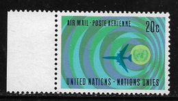 United Nations 1968 Airmail 20c Unused MNH Stamp # AR:249 - New York – UN Headquarters