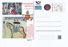 Tschech. Rep. / Ganzsachen (Pre2012/25) Aufhebung Des Templerordens Durch Papst Clemens V. (1312) - Konzil Von Vienne - Covers