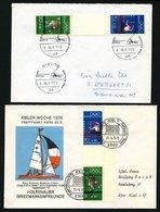 ZUSAMMENDRUCKE SZ 2a,b BRIEF, 1972, Olympische Spiele 70 + Z + 30, Beide Zwischensteggrößen, Mit Sonderstempel, 2 Pracht - Used Stamps