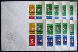 ENGROS H-Bl. 22 BRIEF, 1972, Heftchenblatt Olympische Spiele, 10x Mit Sonderstempel Auf Umschlag, Heftchenzähnung, Prach - [7] Federal Republic