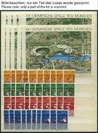 LOTS O, 1968-72, Olympische Spiele, Je 10x Incl. Blocks Komplett, Fast Nur Pracht - [7] Federal Republic