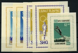 ALBANIEN Bl. **, 1963, 8 Verschiedene Blocks Olympische Spiele: Bl. 19A/B, Bl. 20/1, Bl. 22/3, Bl. 26A/B, Pracht, Mi. 21 - Albania