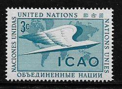 United Nations 1955 ICAO Airplane Aviation 3c Unused MNH Stamp # AR:249 - Unused Stamps