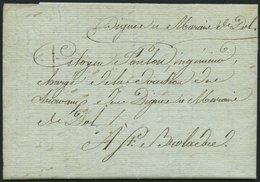FRANKREICH VORPHILATELIE 1810, Brief Von DOL Nach Saint-Broladre Mit Inhalt, Gedruckter Briefbogen Des Travaux Publics,  - France