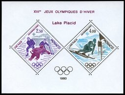 MONACO 1419/20 **, 1980, Olympische Winterspiele, Sonderdruck Als Block, Pracht, Mi. 220.- - Monaco