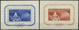 RUMÄNIEN Bl. 46/7 **, 1960, Blockpaar Olympische Spiele, Pracht, Mi. 55.- - Romania