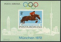 RUMÄNIEN Bl. 94 **, 1972, Block Olympische Spiele, Pracht, Mi. 90.- - Unclassified