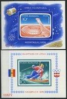 RUMÄNIEN Bl. 129,136 **, 1976, Block Olympische Spiele, Pracht, Mi. 90.- - Romania