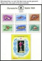 SAMMLUNGEN, LOTS **, Ca. 1979-84, Kleine Postfrische Partie Verschiedener Werte Olympische Spiele 1984, Die Geschichte D - 1948-.... Republics