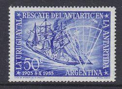 Argentina 1953 Rescate De L'Antartic En La Antartida / Antarctica 1v ** Mnh (37167) - Neufs