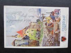 AK YBBS A.d.Donau 1912 Deutscher Schulverein // D*29137 - Melk