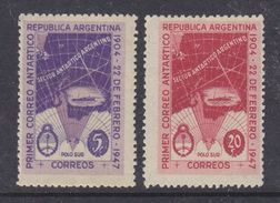 Argentina 1947 Antarctica 2v ** Mnh (37167A) - Argentinië