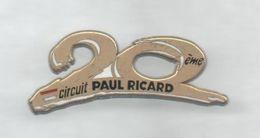 PINS PIN'S  AUTO F1 FORMULE 1  AUTOMOBILE CIRCUIT PAUL RICARD 20 ANS   ARTHUS BERTRAND - F1