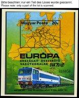 SAMMLUNGEN, LOTS **, Ca. 1967-84, Kleine Postfrische Partie Verschiedener Werte Eisenbahn, Graf Zeppelin, Die Geschichte - Hungary
