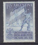 Argentina 1954 Antarctica  Radio Postal Orcadas Del Sur 1v ** Mnh (37167B) - Argentinië