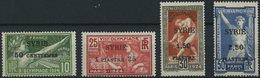 SYRIEN 227-30 *, 1924, Olympische Spiele, Aufdruck SYRIE, Falzreste, üblich Gezähnter Prachtsatz, Mi. 220.- - Syria