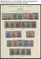 SLG., LOTS DEUTSCHLAND O,* , Altes Schaubek Album Mit Saargebiet, Danzig, Memel Und Dt. Besatzungsausgaben 1914/18 Sowie - Collections